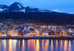 ushuaia bay at night