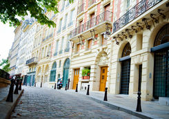 Place Dauphine on Ile de la Cite in Paris
