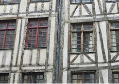Half wood houses in the Marais