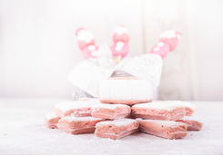 Pink biscuits of Reims