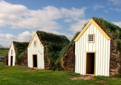 Old turf farmhouse on the village of Glaumbaer