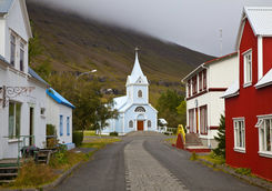 Main street of Seydisfjorour