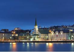 Night view of Reykjavik