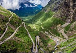 The twisty road of Trollstigen