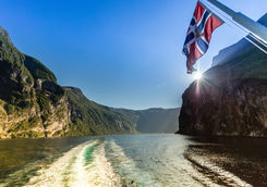 Cruising on Geirangerfjord in Norway