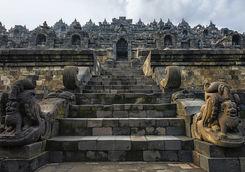 Stairs in Borobudur Temple