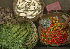 Products on a Bali traditional market