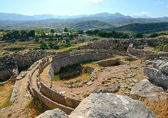 Top view of Mycenae