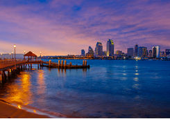 San Diego Bay during Sunset