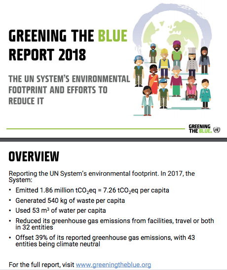 2017 Greening the Blue Report Summary