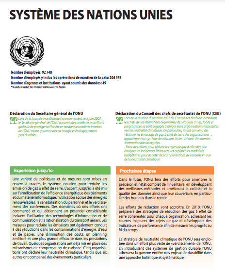 Moving Towards a Climate Neutral UN 2009 (French) - Page 2
