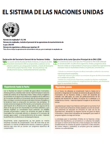 Moving Towards a Climate Neutral UN 2009 (Spanish) - Page 2