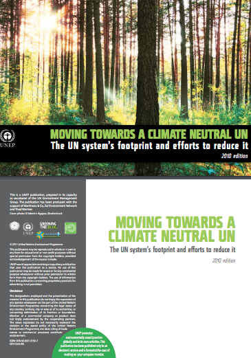 Moving Towards a Climate Neutral UN 2010