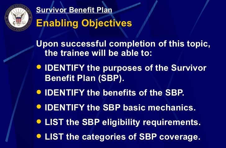 Survivor Benefit Plan (SBP)