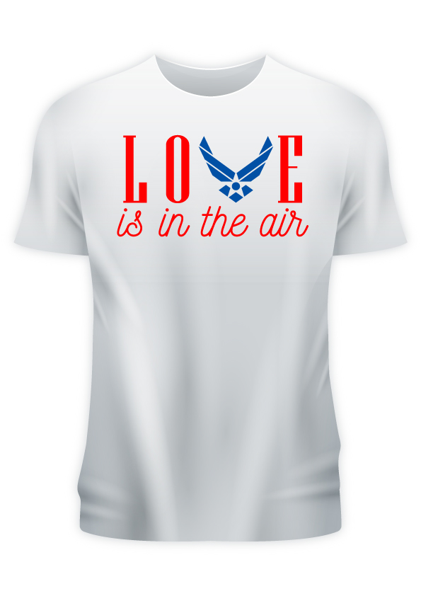 Love is in The Air Chest Print Men's White T-Shirt