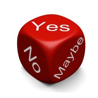 yes-no-maybe dice