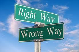 right way v. wrong way