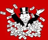 monompoly man in dollars