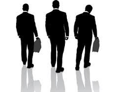 three walking away