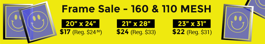 110 and 160 mesh aluminum frames on sale