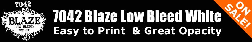 7042 Blaze Low Bleed White Ink