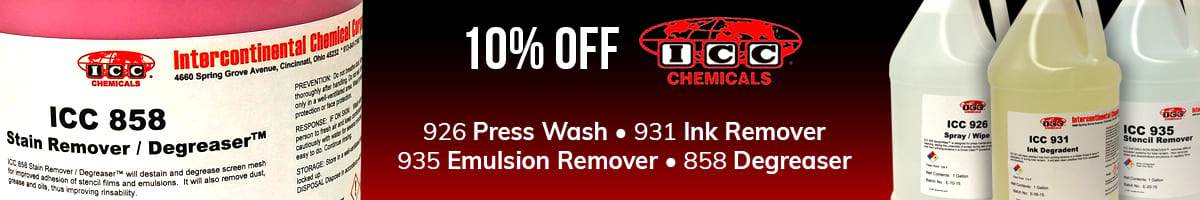 10% Off Select ICC Chemicals
