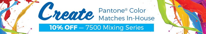 10% OFF 7500 Mixing Series - Mix Your Pantone Colors In-House