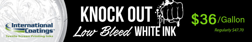 Knock Out Low Bleed White Ink on Sale