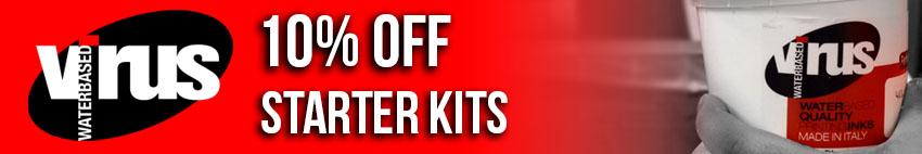 10% Off water-based starter kits