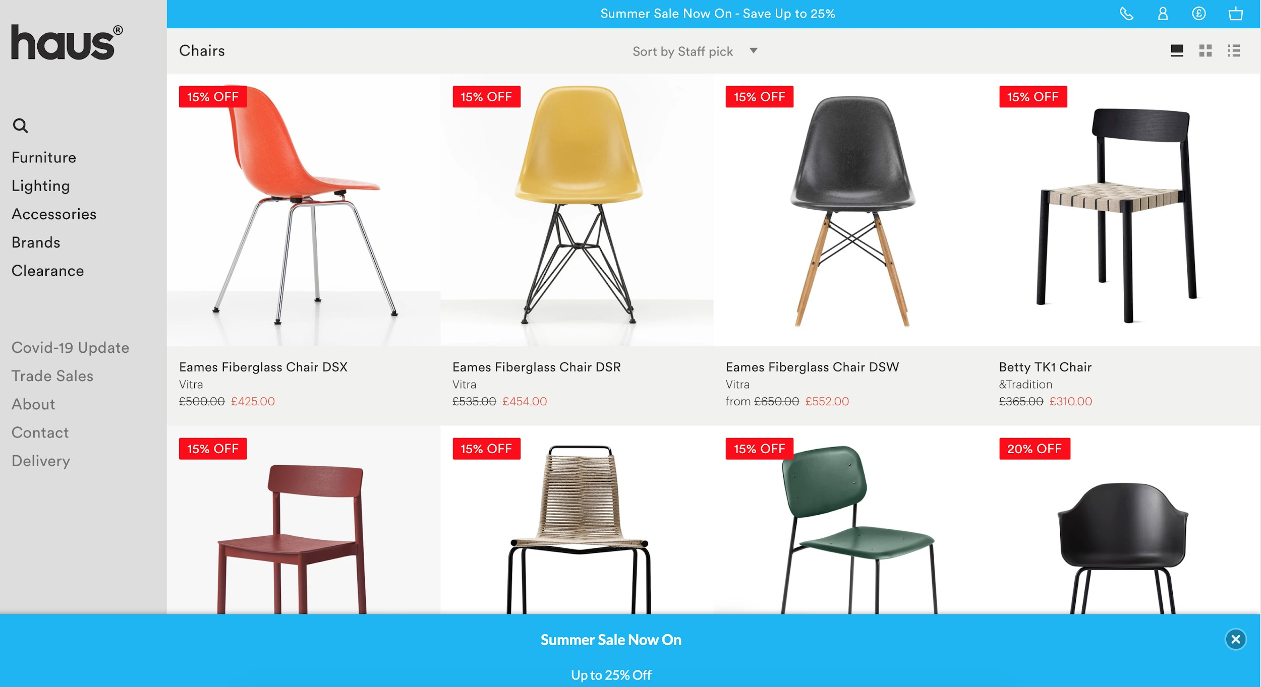 haus best ecommerce websites