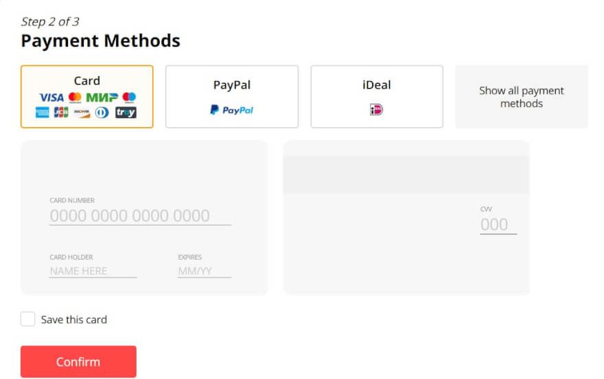 aliexpress payment methods