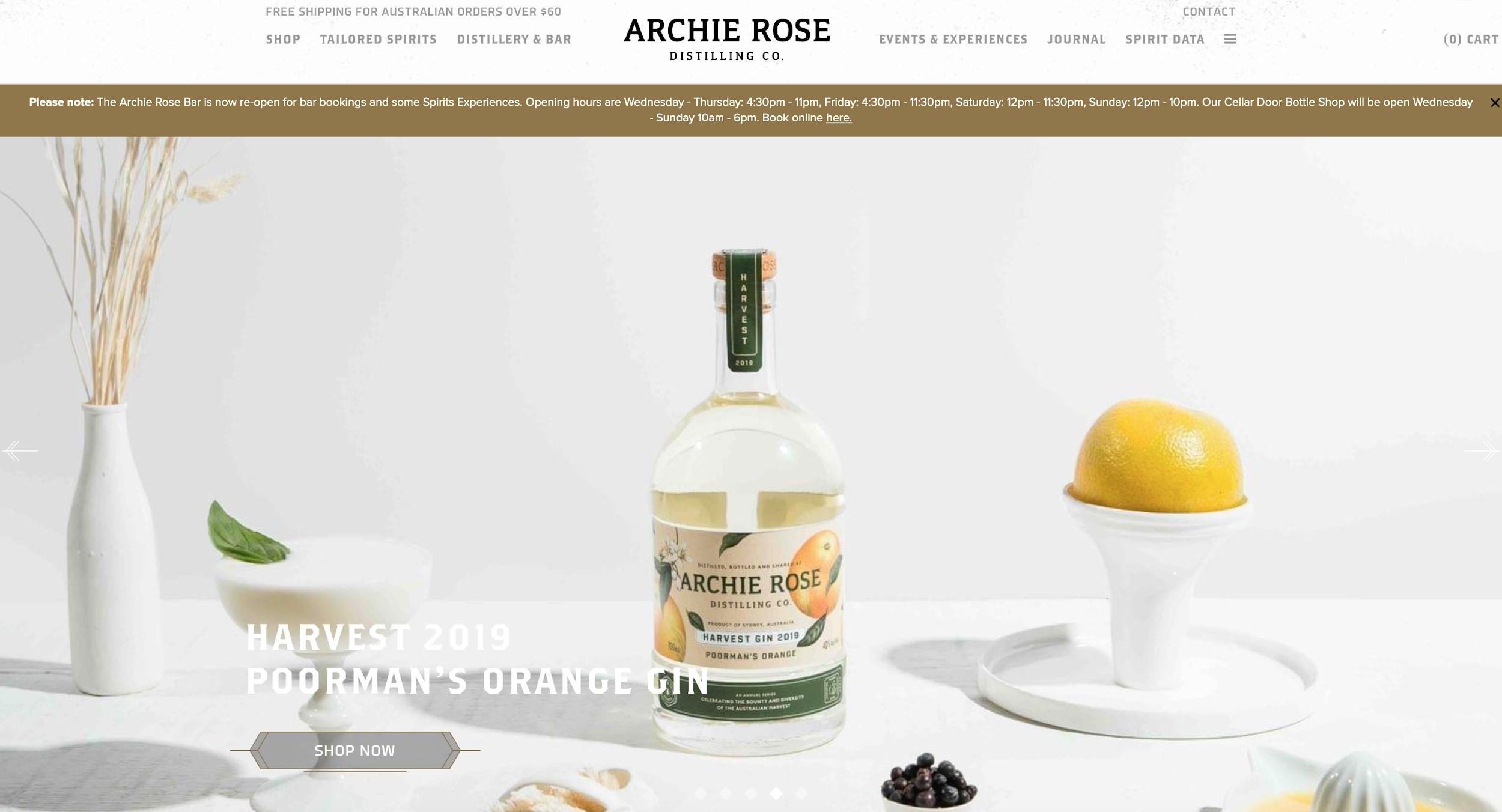 archie rose distilling co best e-commerce site