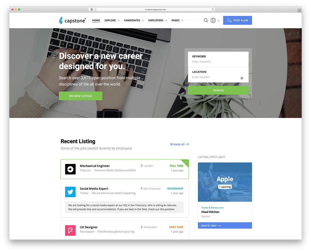 website ideas online job board