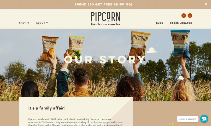 pipcorn home page