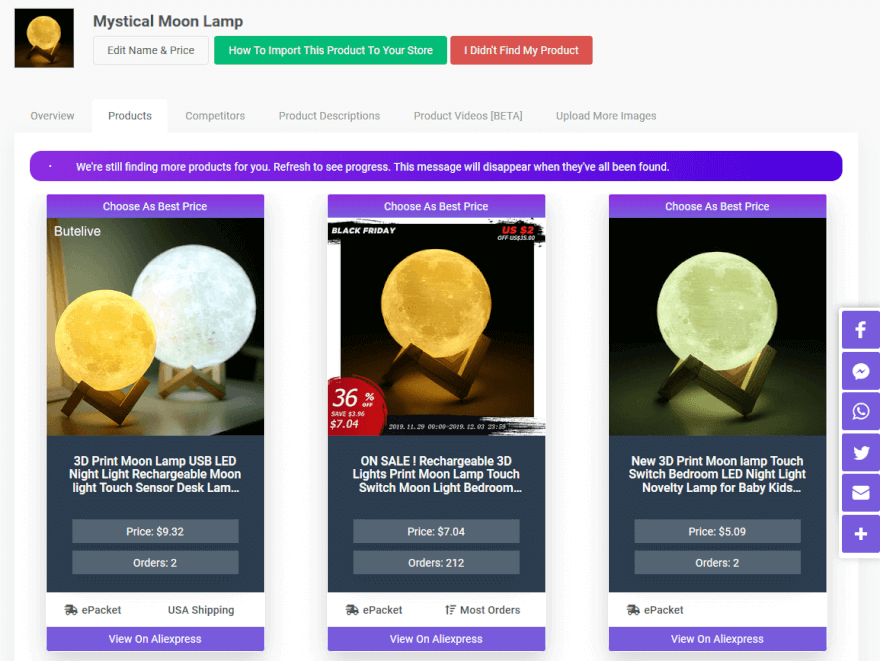Moon Lamp dropshipping product best sellers
