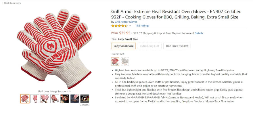 grilling gloves amazon best seller