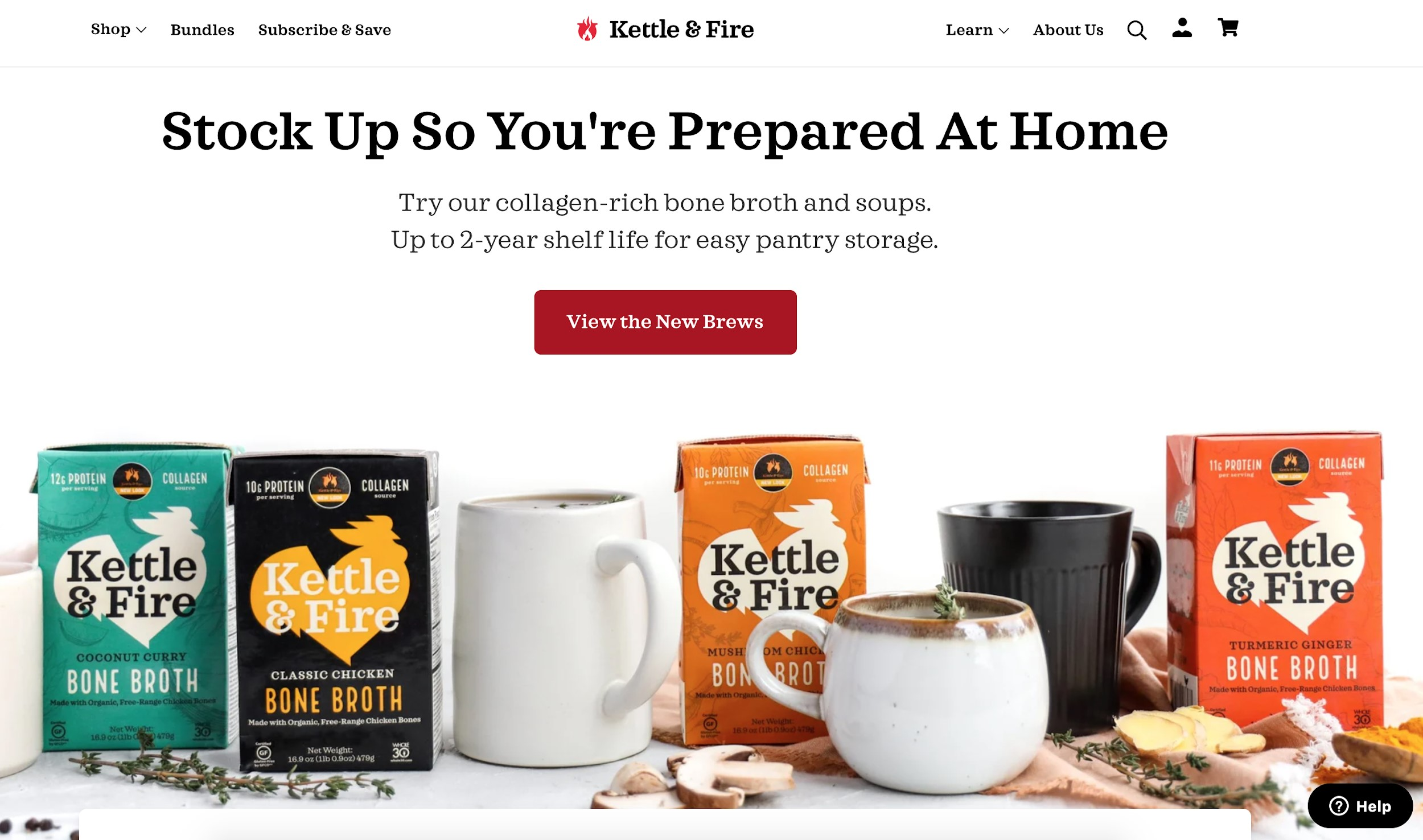kettle and fire best e-commerce sites