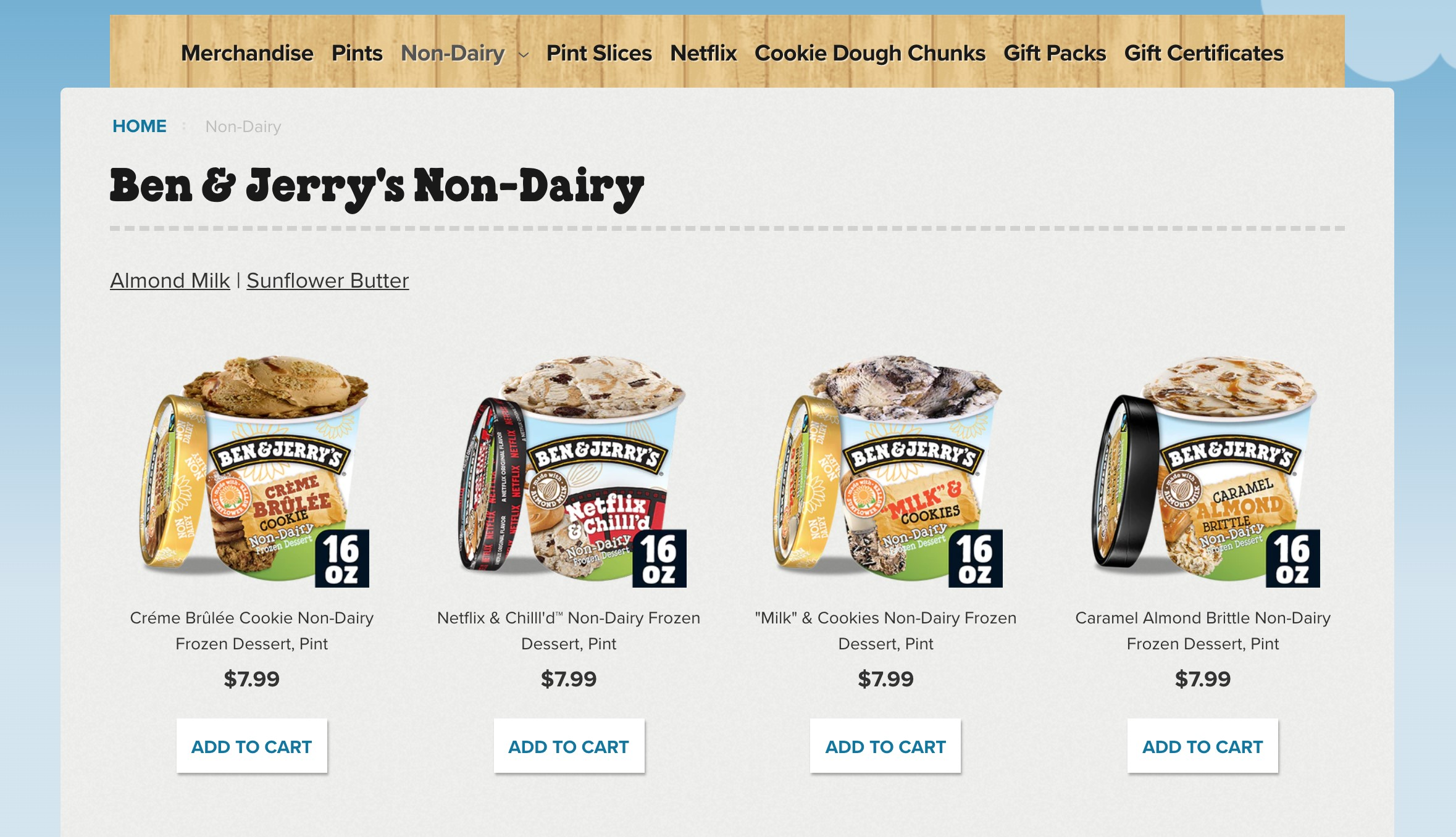 ben and jerrys best ecommerce site