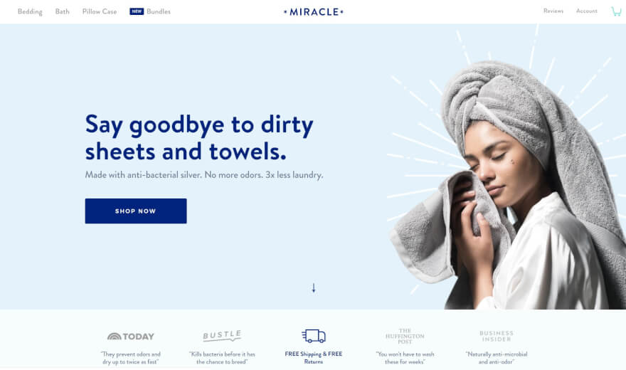 miracle shop home page