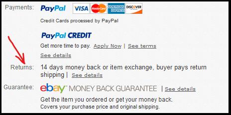 amazon vs ebay return policy