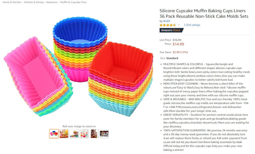 silicone cupcake muffin amazon top selling item