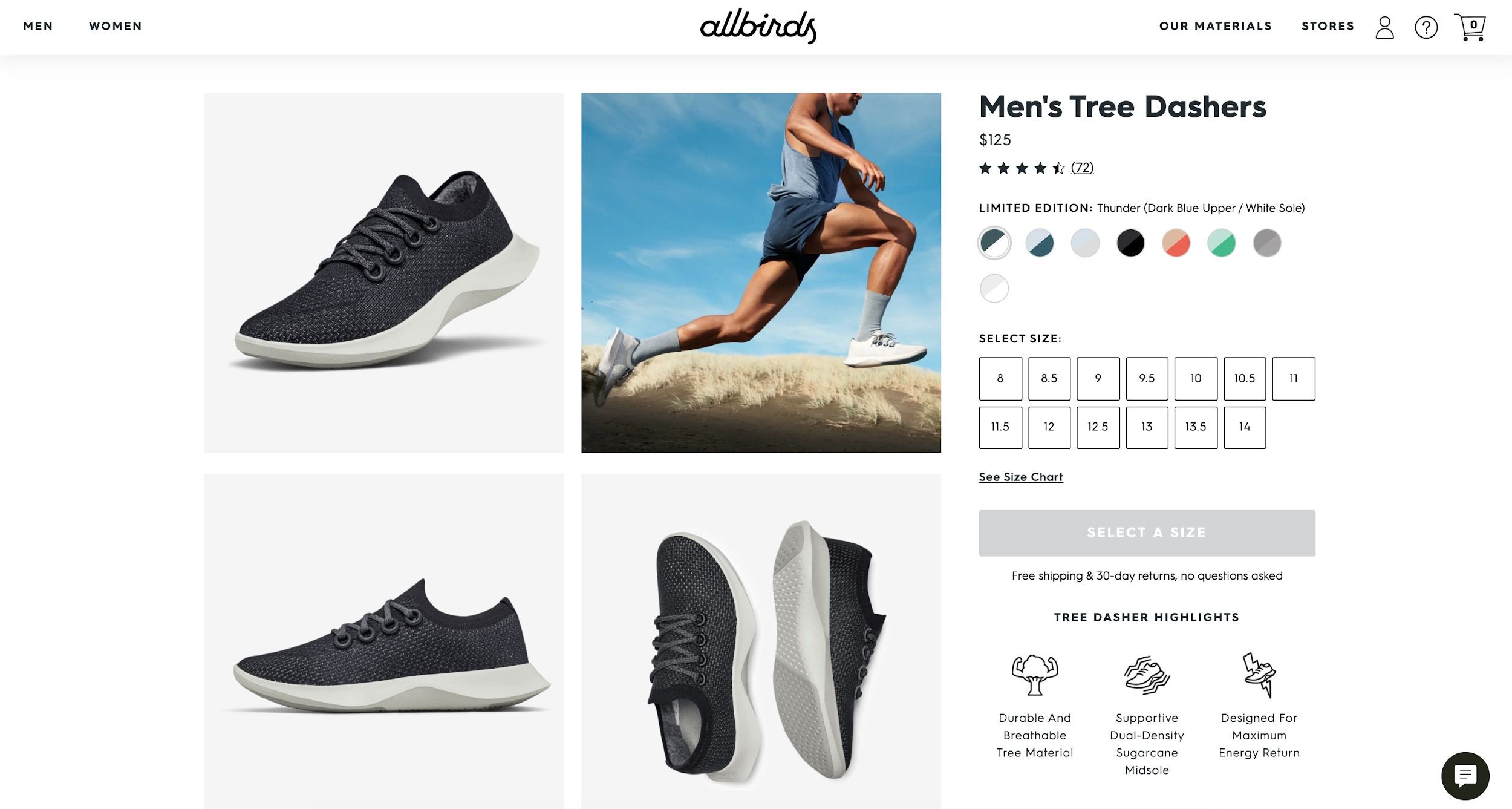 best ecommerce sites allbirds