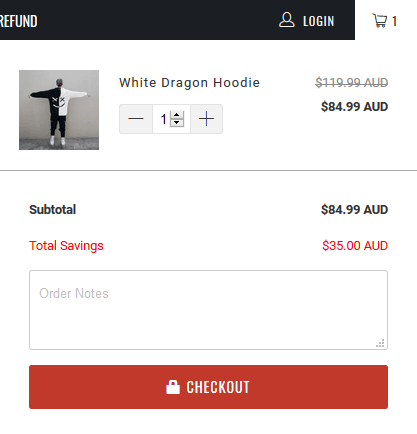 Shopify Turbo theme checkout button with lock