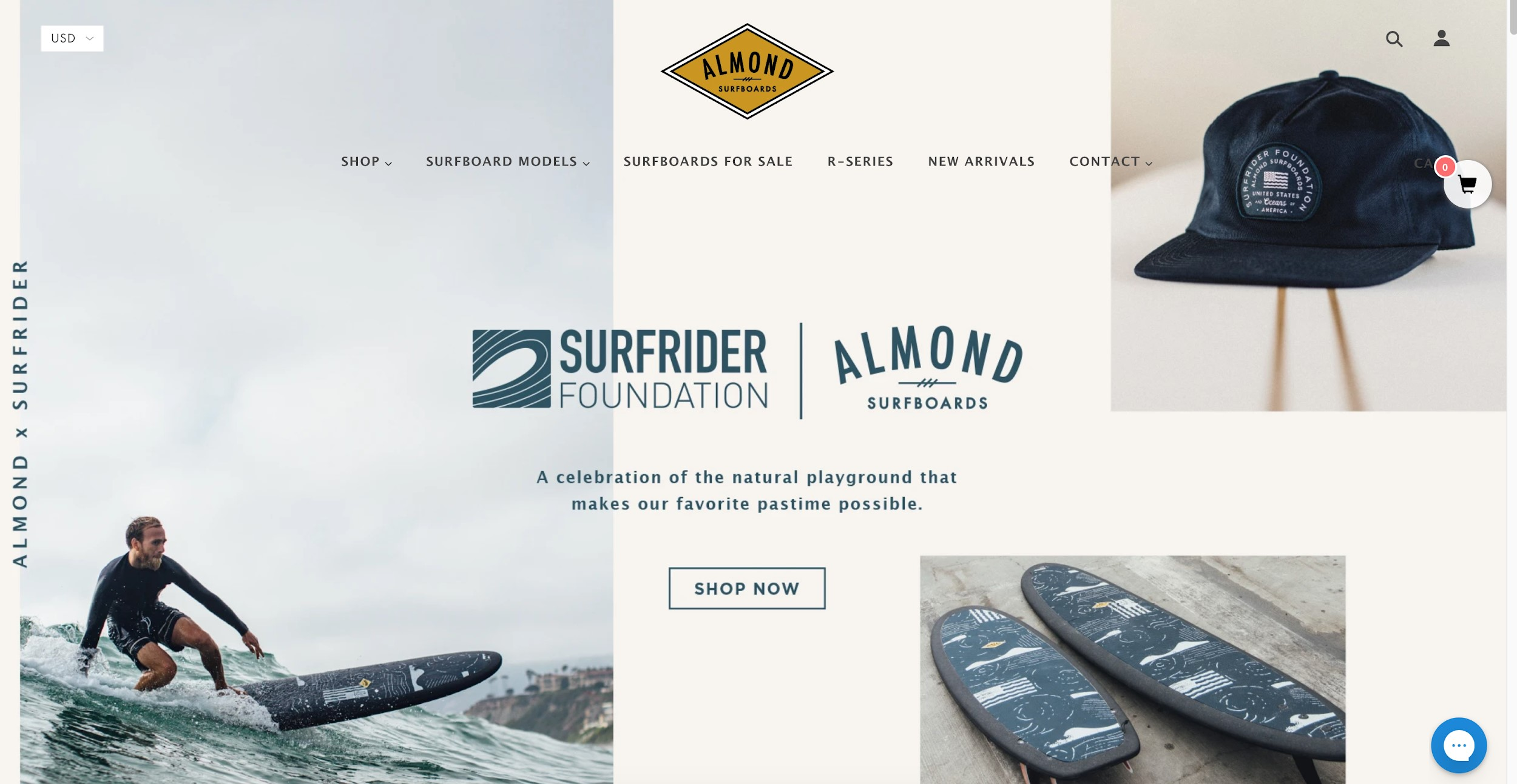 Almond Surfboards best e commerce sites