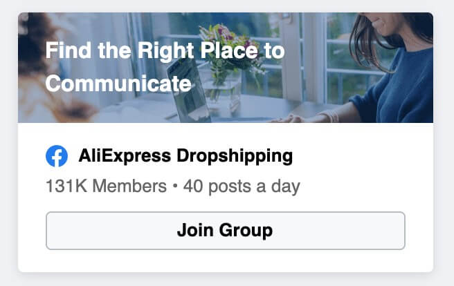 aliexpress facebook group