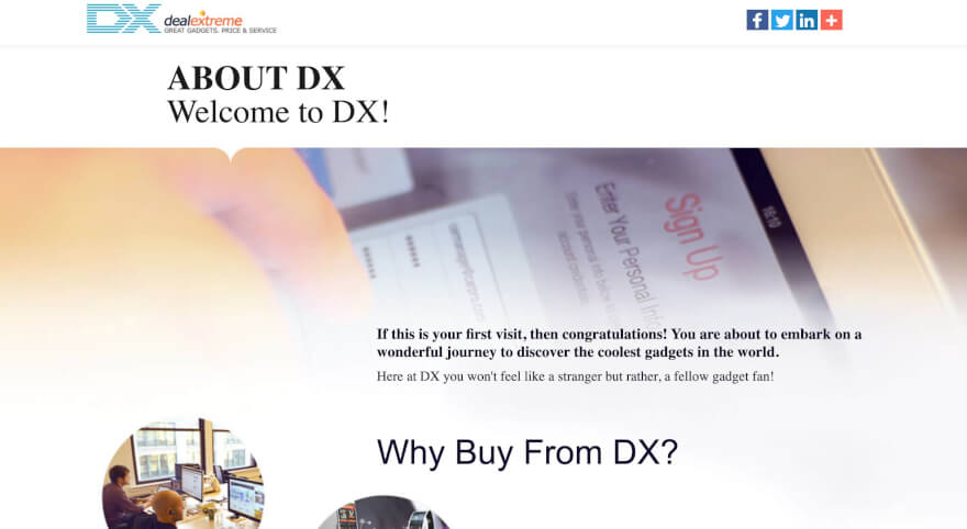 dx about page