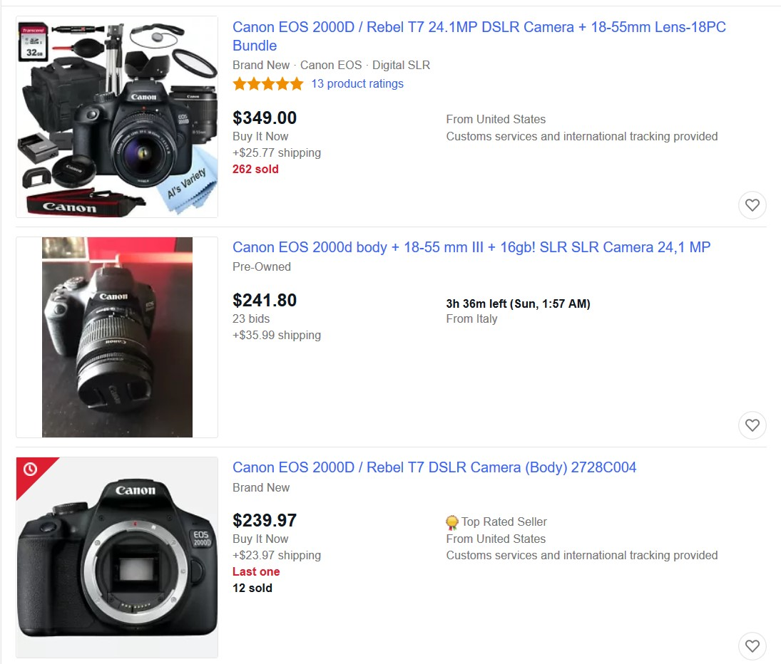 digital camera ebay best selling item