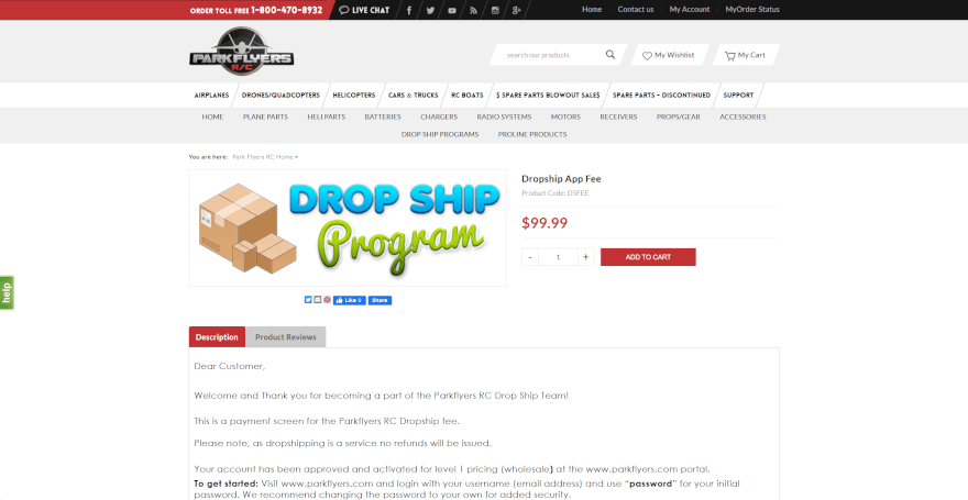 park flyers dropshipping company