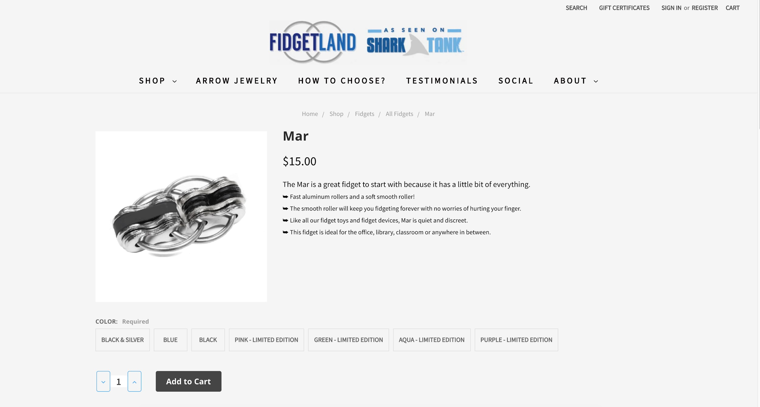 best ecommerce websites FidgetLand