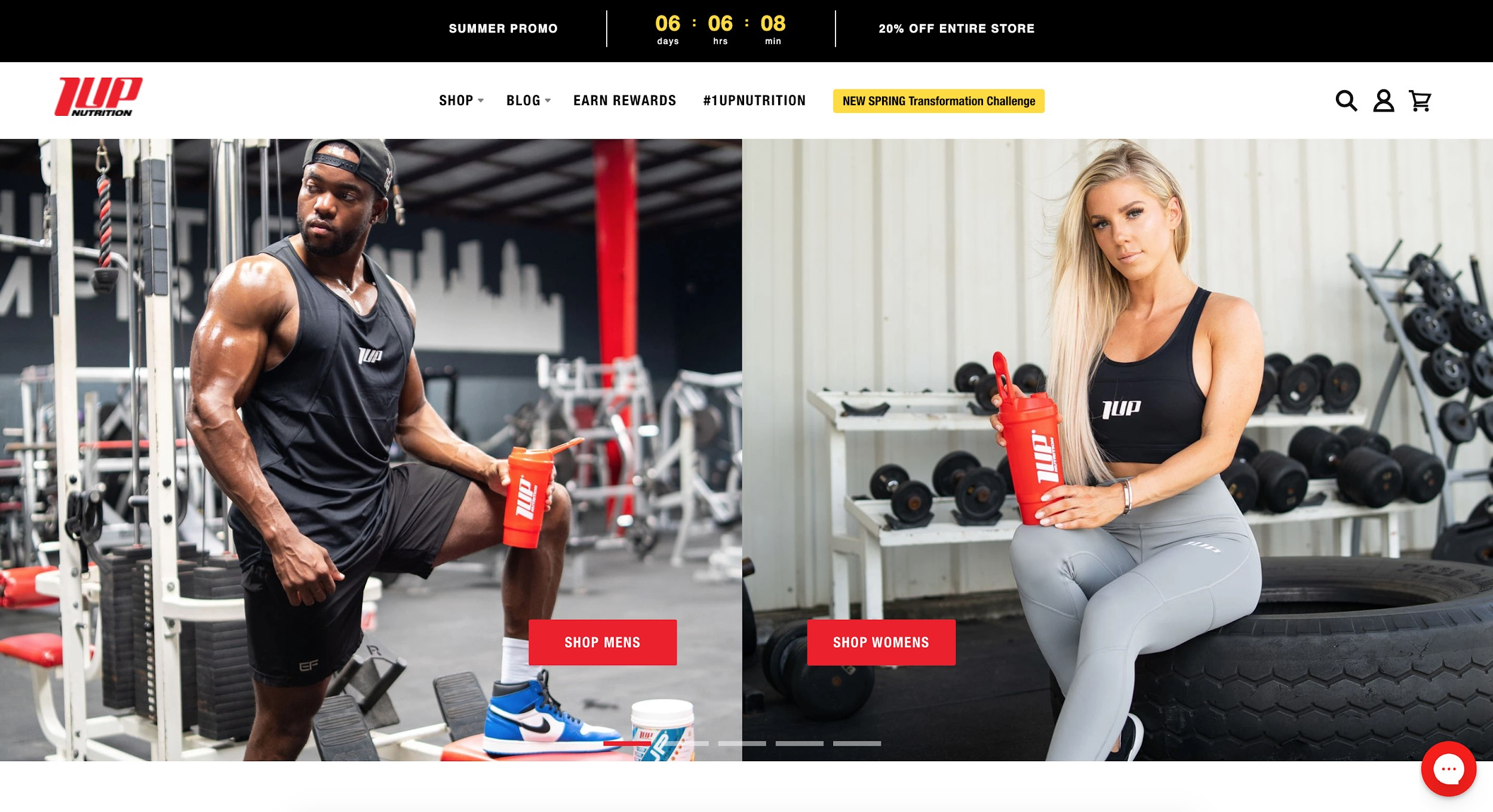 1up nutrition best e-commerce sites